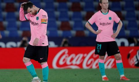 Барселона се издъни срещу Леванте – титлата се изплъзва от ръцете на каталунците